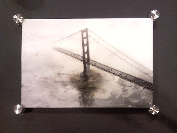 The Bridge to...10 x 14 Mixed Media on Glass SOLD
