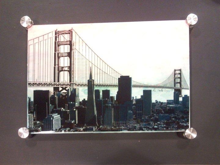 Untitled (San Francisco) 10 x 14 Mixed Media on Glass $350